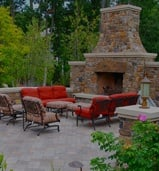 Minnesota Outdoor Kitchens/Rooms from Heins Nursery.