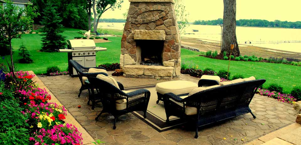 Outdoor Rooms and Kitchens from Heins Nursery, Woodbury, Minnesota.