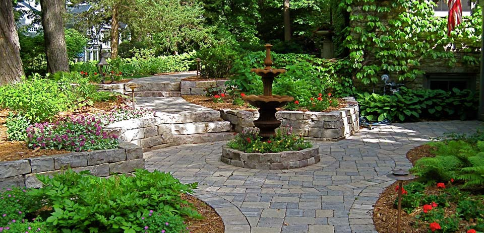High End Paver and Stone Patios from Heins Nursery, Woodbury, Minnesota.