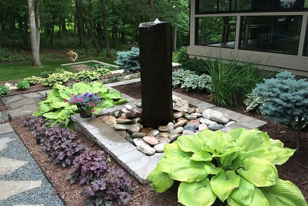 High end landscape water features from Heins Nursery