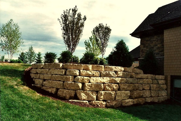 High end landscape retaining walls from Heins Nursery