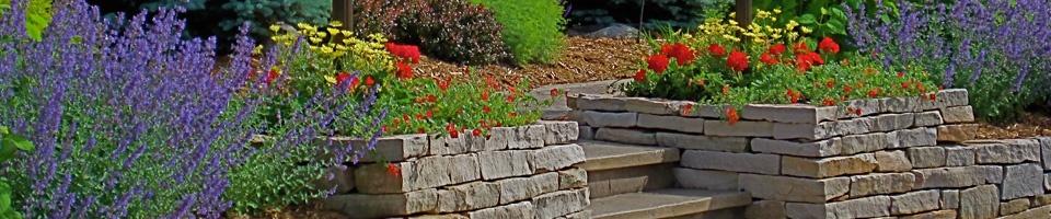 Heins Nursery offers an array of high end landscape retaining walls.